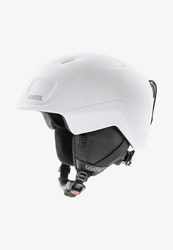 Helmet - white-black mat