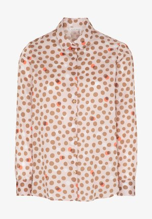 Button-down blouse - rose/beige