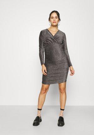OLMDARLING WRAP GLITTER DRESS - Day dress - black