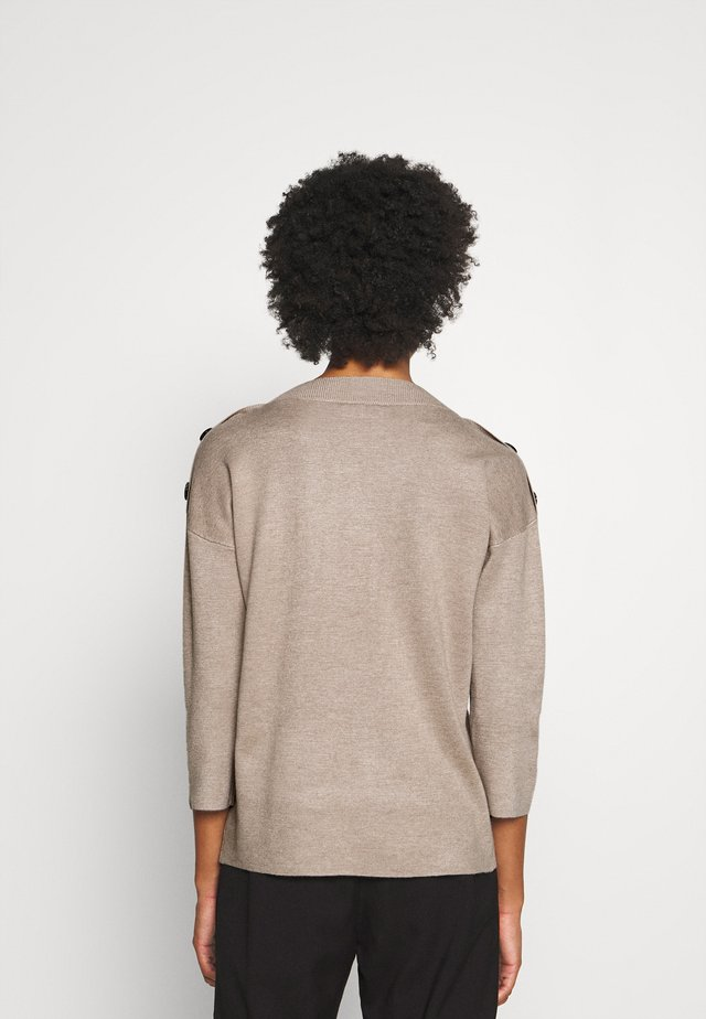 FQANI - Stickad tröja - oxford tan melange