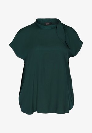 MIT BINDEDETAIL - Blouse - dark green