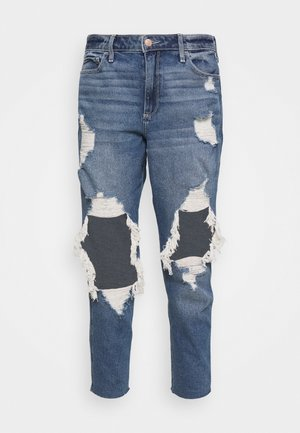 MOM - Relaxed fit jeans - indigo shred