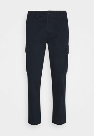 SLHLOOSETAPERED AIDEN PANTS - Cargo trousers - dark sapphire