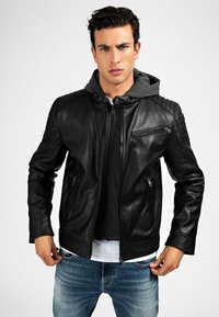 Guess - Faux leather jacket - mehrfarbig schwarz - 0