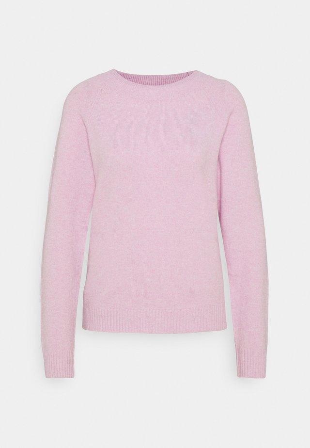 VMDOFFY O NECK - Strikpullover /Striktrøjer - pastel lavender melange