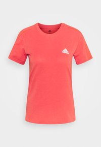 adidas Performance - Basic T-shirt - crered/white - 3
