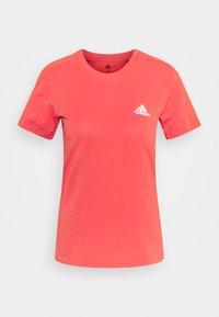 Basic T-shirt - crered/white