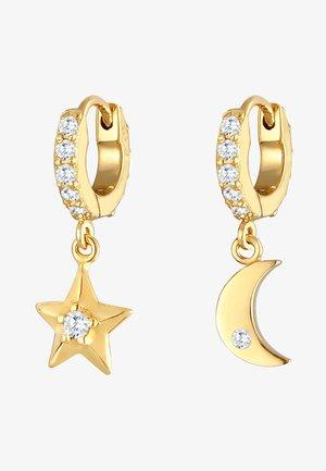 STAR MOON - Earrings - gold