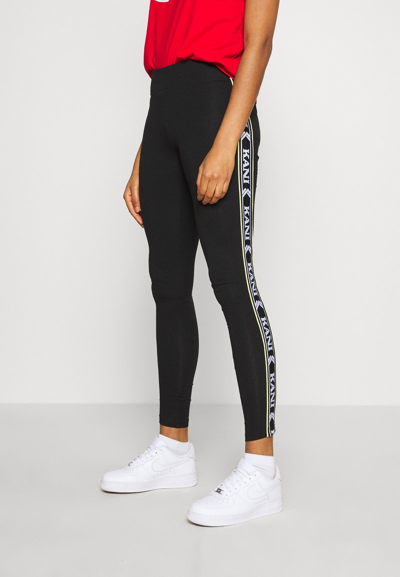Karl Kani - TAPE TIGHT  - Leggings - Trousers - black