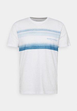 Triko spotiskem - white/blue