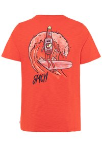 GAP - BOY FRONT BACK TEE - Camiseta estampada - hot coral - 1