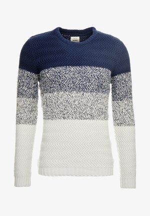 VINNY - Stickad tröja - navy/off white