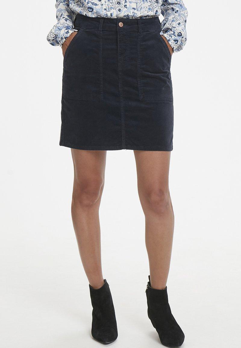 Part Two - A-line skirt - dark navy