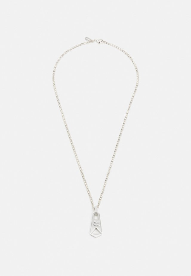 MEN NECKLACE ZIP PENDANT - Collana - silver-coloured