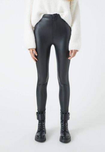 Leggings - mottled black