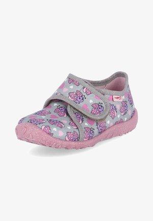 SPOTTY - Touch-strap shoes - grau - rosa
