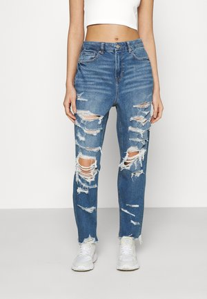 CURVY MOM  - Jeans slim fit - indigo shatter