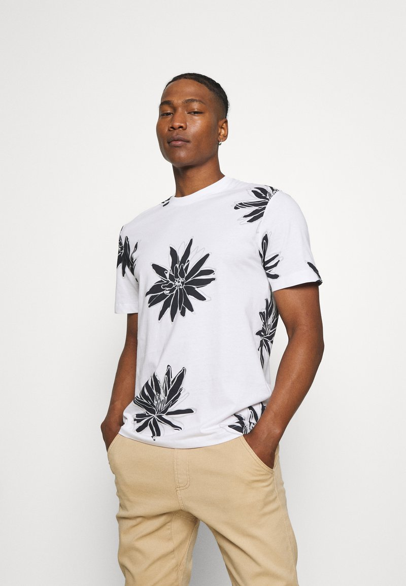 Only & Sons - ONSPOLE TEE - Print T-shirt - bright white