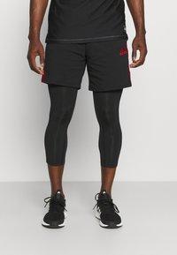 adidas Performance - 3 STRIPES PRIMEGREEN TECHFIT COMPRESSION CAPRI 3/4 LEGGINGS - Tights - black - 3
