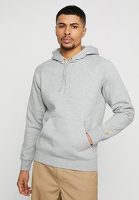 Carhartt WIP - HOODED CHASE  - Sweat à capuche - grey heather/gold - 0