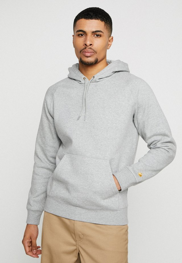 HOODED CHASE  - Sweat à capuche - grey heather/gold