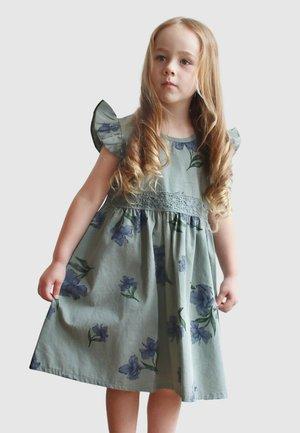 Day dress - mottled blue