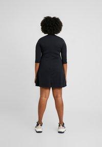 CAPSULE by Simply Be - LONG SLEEVE SWING DRESS - Jersey dress - black - 2