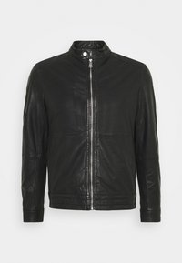 MAADRON - Leather jacket - black