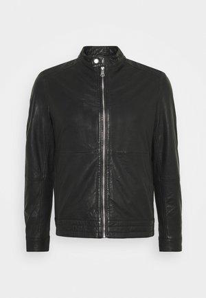 MAADRON - Kožená bunda - black