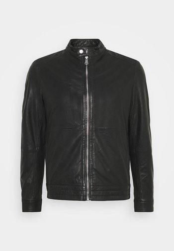 MAADRON - Leather jacket - black