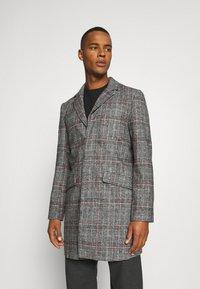Another Influence - EVERETT CHECK OVERCOAT - Short coat - grey - 0