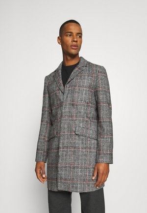 EVERETT CHECK OVERCOAT - Short coat - grey