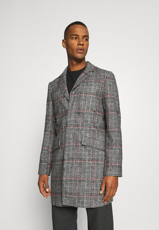 EVERETT CHECK OVERCOAT - Kort kåpe / frakk - grey