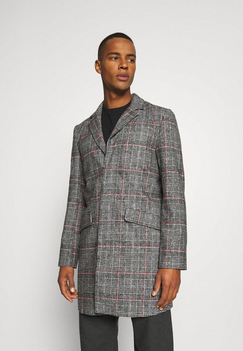 Another Influence - EVERETT CHECK OVERCOAT - Short coat - grey