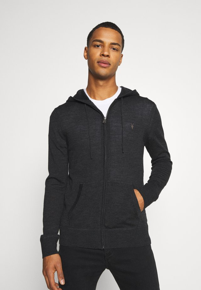 ZIP HOODY - Cardigan - shadow grey marl