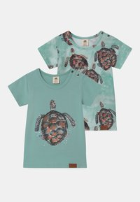 Walkiddy - SEA TURTLES 2 PACK UNISEX - Camiseta estampada - blue - 0