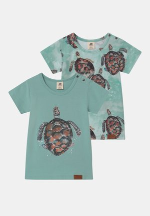 SEA TURTLES 2 PACK UNISEX - Print T-shirt - blue