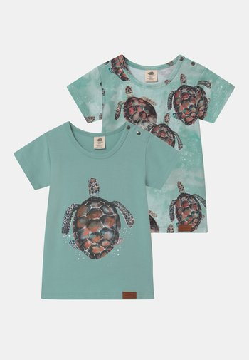 SEA TURTLES 2 PACK UNISEX - Print T-shirt - blue