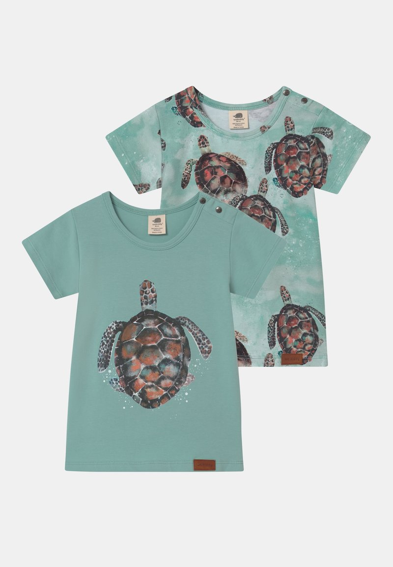Walkiddy - SEA TURTLES 2 PACK UNISEX - Camiseta estampada - blue