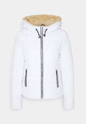ONLSHELLY HOODED SHORT JACKET - Light jacket - bright white