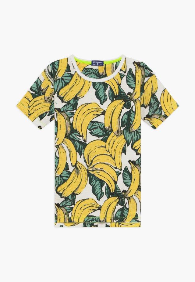 BOYS - Print T-shirt - yellow/green