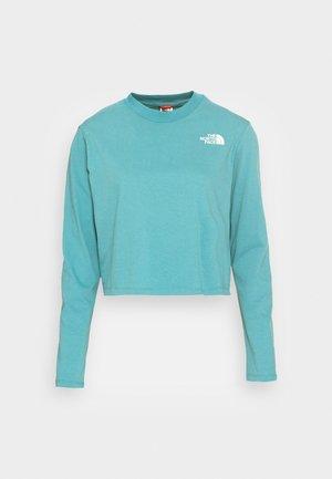 CROP TEE - Maglietta a manica lunga - storm blue