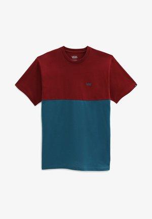 MN COLORBLOCK - T-shirt imprimé - blue coral/pomegranate