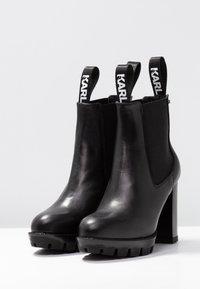 KARL LAGERFELD - VOYAGE GORE - Ankelboots med høye hæler - black - 4