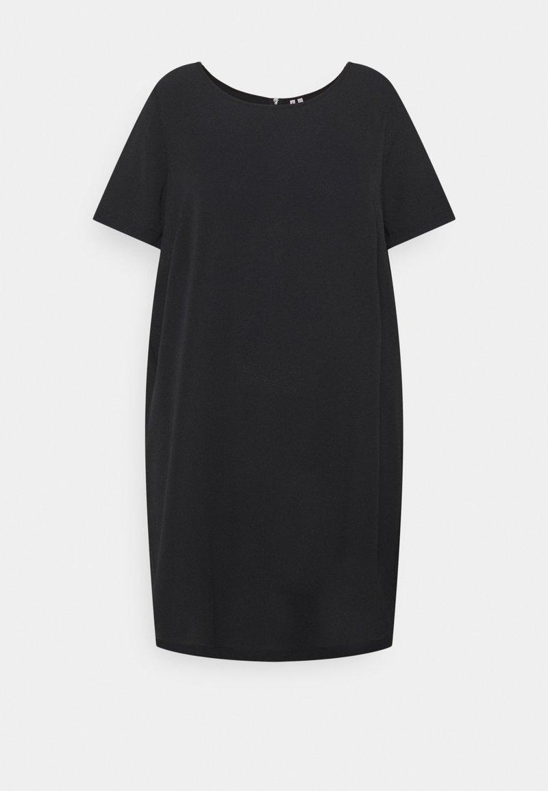 ONLY Carmakoma - CARLUXMILA DRESS SOLID - Day dress - black