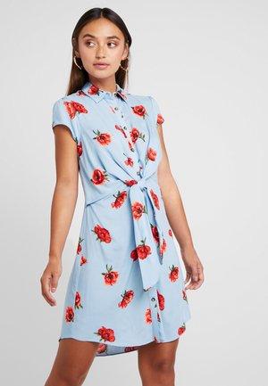 FLORAL DRESS - Jeansklänning - blue