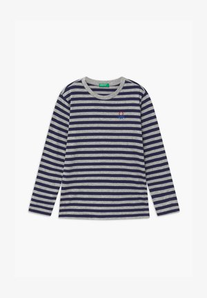FUNZIONE BOY - Long sleeved top - dark blue/grey