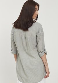 b.young - BYFIE STRIPE - Button-down blouse - olivine mix - 2