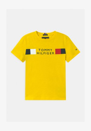 GLOBAL STRIPE - T-shirt con stampa - yellow