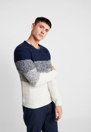 VINNY - Jumper - navy/off white